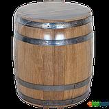 Бочка дубовая 15 л для вина, коньяка (нержавеющий обруч), Дубовые бочки, Для напитков, Украина, 15, фото 7