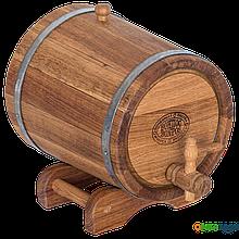 Жбан дубовый 5 литров (нержавеющий обруч), Дубовые бочки, Для напитков, Украина, 5