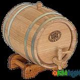 Бочка дубовая 5 л для вина, коньяка (оцинкованный обруч), Дубовые бочки, Для напитков, Украина, 5, фото 2