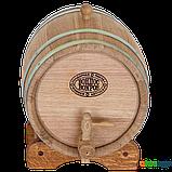 Бочка дубовая 5 л для вина, коньяка (оцинкованный обруч), Дубовые бочки, Для напитков, Украина, 5, фото 3