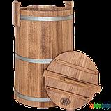 Кадка дубовая для солений 100 л БонПос (оцинкованый обруч), Кадки, Для солений, Украина, 100, фото 2