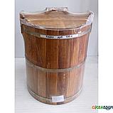 Кадка дубовая для солений 100 л БонПос (оцинкованый обруч), Кадки, Для солений, Украина, 100, фото 5