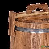 Кадка дубовая для засолки 15 л БонПос (нержавеющий обруч), Кадки, Для солений, Украина, 15, фото 3