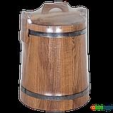 Кадка дубовая для засолки 15 л БонПос (нержавеющий обруч), Кадки, Для солений, Украина, 15, фото 4