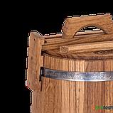 Кадка дубовая для засолки 10 л БонПос (нержавеющий обруч), Кадки, Для солений, Украина, 10, фото 3