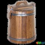 Кадка дубовая для засолки 10 л БонПос (нержавеющий обруч), Кадки, Для солений, Украина, 10, фото 4