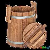 Кадка дубовая для солений 5 л БонПос (оцинкованый обруч), Кадки, Для солений, Украина, 5, фото 2