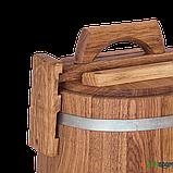 Кадка дубовая для солений 5 л БонПос (оцинкованый обруч), Кадки, Для солений, Украина, 5, фото 3