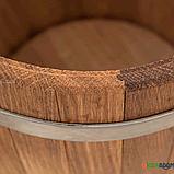 Кадка дубовая для солений 5 л БонПос (оцинкованый обруч), Кадки, Для солений, Украина, 5, фото 4