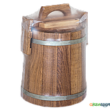 Кадка дубовая для солений 5 л БонПос (оцинкованый обруч), Кадки, Для солений, Украина, 5, фото 5