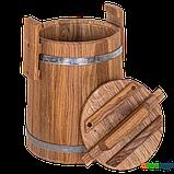 Кадка дубовая для засолки 3 л БонПос (нержавеющий обруч), Кадки, Для солений, Украина, 3, фото 2