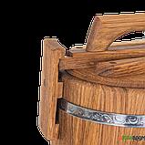 Кадка дубовая для засолки 3 л БонПос (нержавеющий обруч), Кадки, Для солений, Украина, 3, фото 3