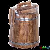 Кадка дубовая для засолки 3 л БонПос (нержавеющий обруч), Кадки, Для солений, Украина, 3, фото 4