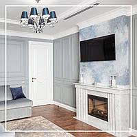 Белый камин в современной гостиной квартиры: фото, описание, цена., фото 1