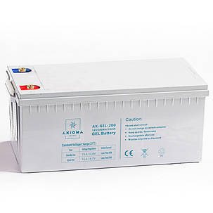 Аккумуляторная батарея гелевая AX-GEL-200 12В 200Ач AXIOMA energy, фото 2