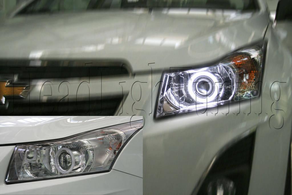 Установка биксеноновых линз в фары Chevrolet CRUZE