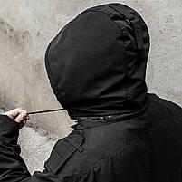 """Куртка милитари """"М65"""" BLACK (На флисе), фото 4"""