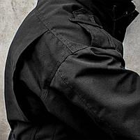 """Куртка милитари """"М65"""" BLACK (На флисе), фото 5"""