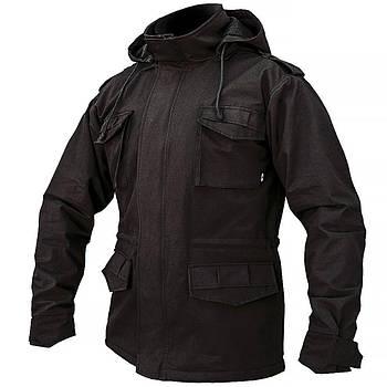 """Куртка милитари """"М65"""" BLACK (На флисе)"""