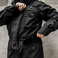 """Куртка милитари """"М65"""" BLACK (На флисе), фото 8"""