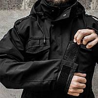 """Куртка милитари """"М65"""" BLACK (На флисе), фото 6"""