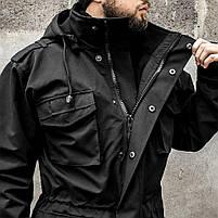 """Куртка милитари """"М65"""" BLACK (На флисе), фото 9"""