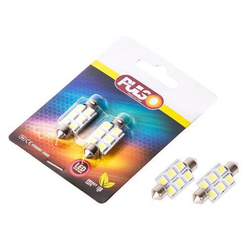 Лампы PULSO/софитные/LED SV8.5/T11x36mm/6 SMD-5050/12v/White (LP-85366)