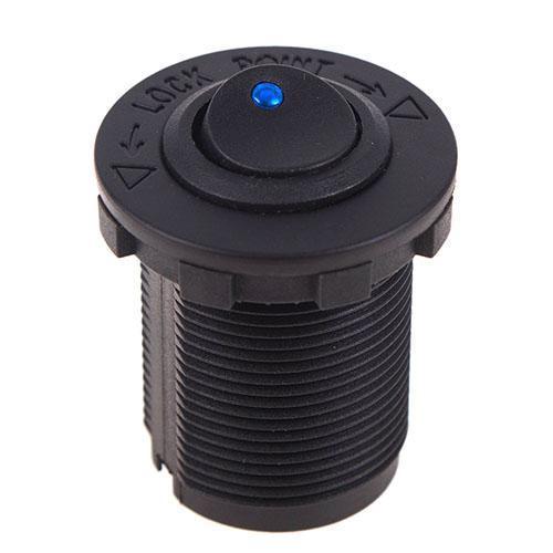 Кнопка врезная в планку 12V 20A BLUE (10244 12V 20A BLUE)
