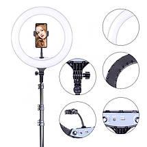 """Кільцева led лампа YQ-360A ring fill lignt 36 см з тримачем для телефону Кільцевої світлодіодний світло 14"""", фото 3"""