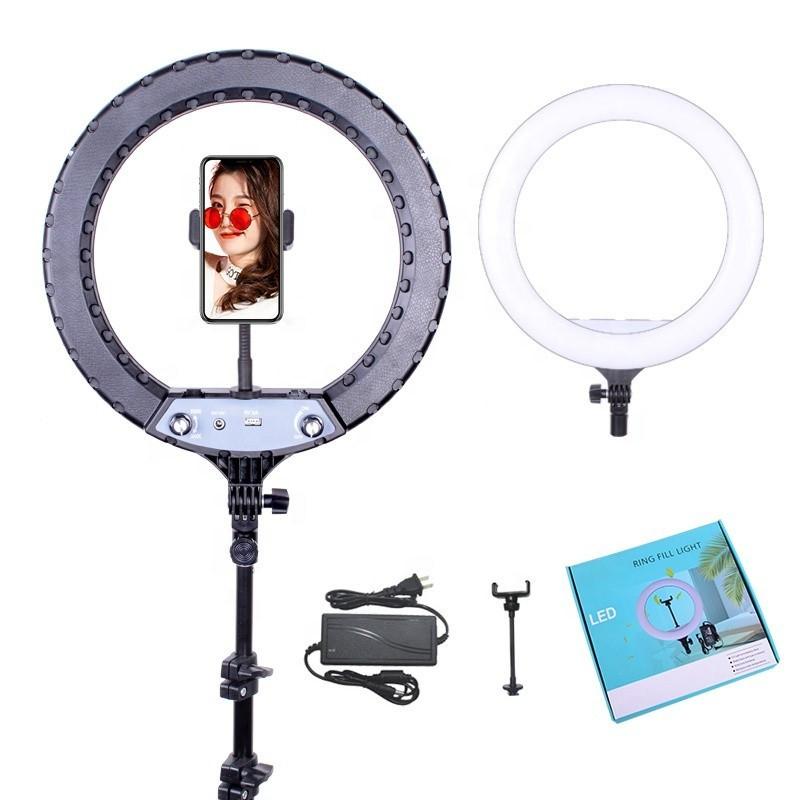 """Кільцева led лампа YQ-360A ring fill lignt 36 см з тримачем для телефону Кільцевої світлодіодний світло 14"""""""