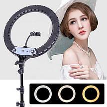 """Кільцева led лампа YQ-360A ring fill lignt 36 см з тримачем для телефону Кільцевої світлодіодний світло 14"""", фото 2"""