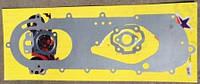 Прокладки комплект двигателя скутер ТВ-60 цепник 2T