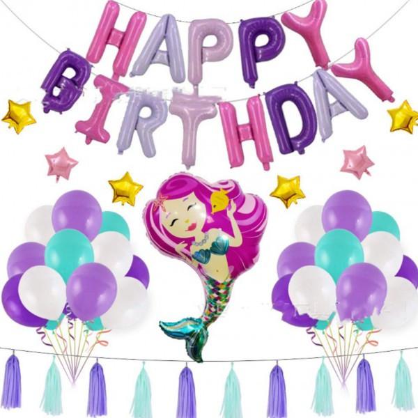 Набор для декора Дня рождения в стиле Русалочки