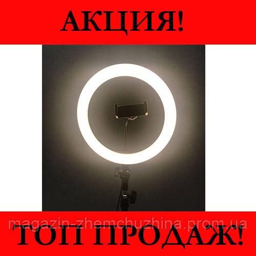 Кольцевая LED лампа LC666 (1 крепл.тел.) (метал.шарниры) USB (26см)