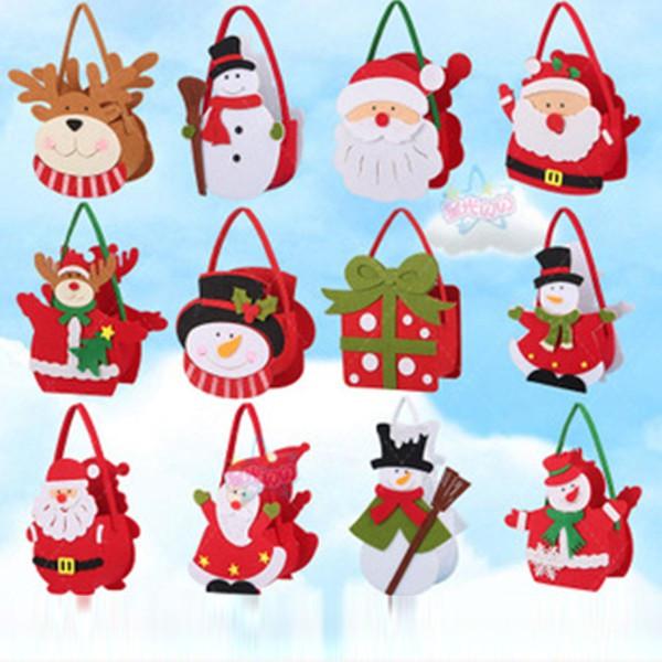 Новогодняя сумочка из фетра для подарков