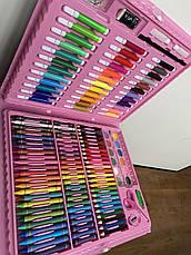 Детский набор для рисования, художественный набор для рисования в чемоданчике 150 предметов Розовый, фото 2
