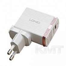 Комплект домашнього зарядного пристрою Ldnio A1302Q (Lightning) (1USB) (3 A) - Білий