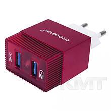 Комплект домашнього зарядного пристрою Ciyocorps ES-D21 (Lightning) (2USB) (2,4 A))