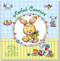 Альбом для младенцев (большой) : Дорогой сыночек (у) 230011, альбом для новорожденного,детский