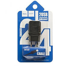 Hoco C22A Little Superior Home Charger Set (EU) (Lightning) (1USB) (2.4 A) - Чорний