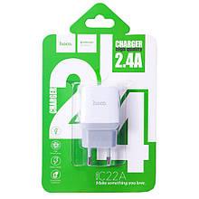 Hoco C22A Little Superior Home Charger Set (EU) (Lightning) (1USB) (2.4 A) - Білий