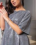 Платье серебро, фото 2