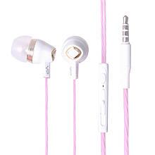 Навушники Veron (VH12) Earphones (тех. пак) — Pink