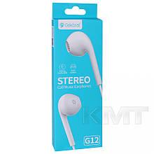 Навушники Celebrat G12 With Mic — White