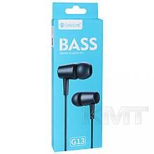 Навушники Celebrat G13 With Mic — Black