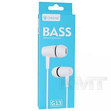 Навушники Celebrat G13 With Mic — White