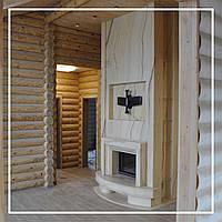 Современный камин в интерьере гостиной для загородного дома: цена, фото., фото 1