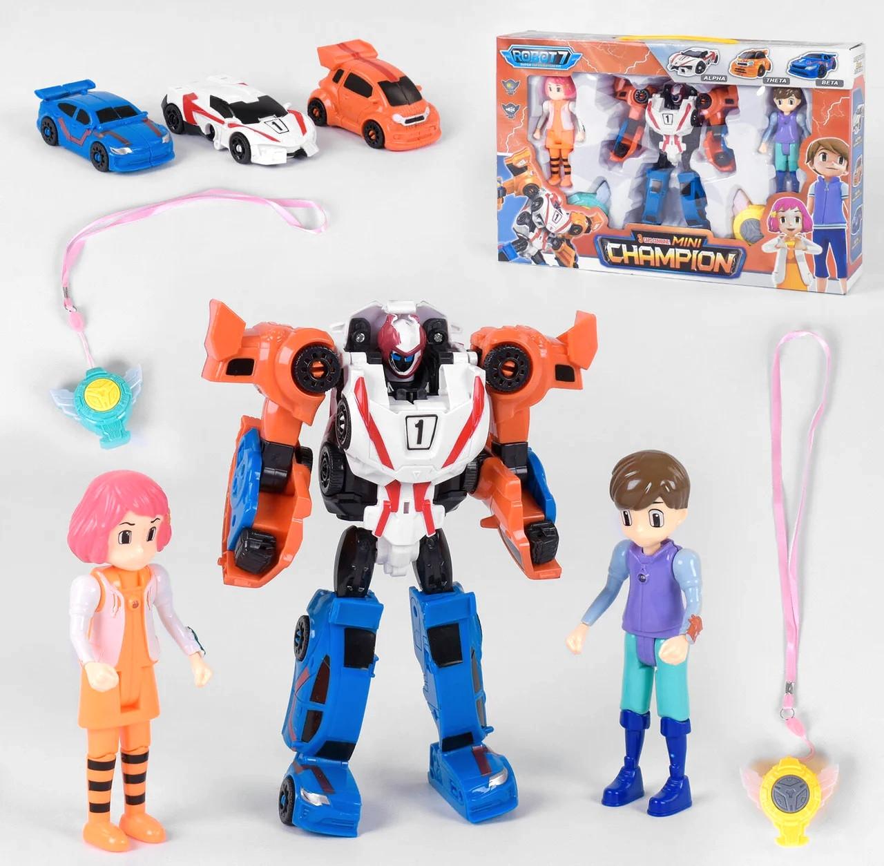 Детский игровой набор робот тобот Champion из серии \тоботы с роботом-трансформером, игровыми фигурками героев