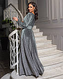 Сукня срібло вечірнє, фото 3