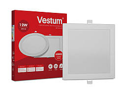 Квадратный светодиодный врезной светильник Vestum 12W 4000K 220V  1-VS-5204